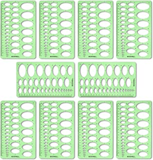 Rockwell Galleries Oval or Ellipse Template 10 Pack for Drawing, Drafting and Creating