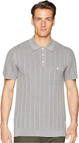 Cotton Silk Ribbed Knit Polo