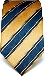idrorepellente e antisporco motivo a righe 8 cm x 15 cm di pura seta di alta qualit/à Vincenzo Boretti cravatta elegante classica da uomo