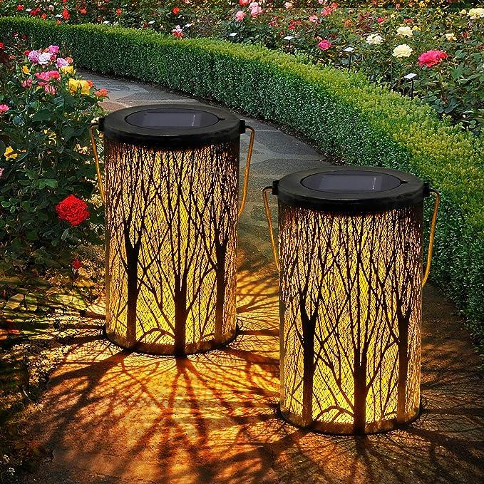 213 opinioni per 2 Pack Lanterna Solare da Giardino, OxyLED Lampada Solare da Giardino Lanterna