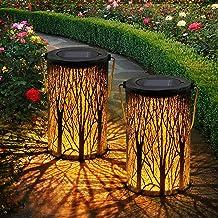 OxyLED Solar Lantaarn op zonne-energie, 2 stuks, IP44 waterdicht, decoratieve zonnelantaarns voor buiten, tuin, patio, ter...