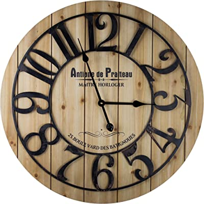 Amazon Com Bulova Silhouette Wall Clock Brown Home Kitchen