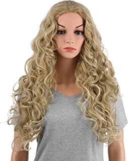 OneDor Long Hair Curly Wavy Full Head Halloween Wigs Cosplay Costume Party Hairpiece (24H613A)