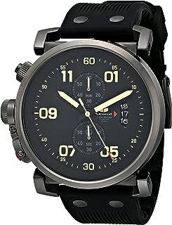 Vestal Men's OBCS001 USS Observer Chrono Black White Lume Watch
