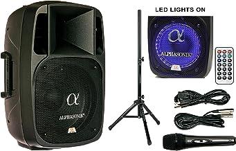 "Alphasonik 12"" Powered 2000W PRO DJ Amplified Loud Speaker Bluetooth USB SD Card AUX.."