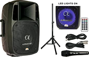 "Alphasonik 12"" Powered 2000W PRO DJ Amplified Loud Speaker Bluetooth USB SD Card AUX.."