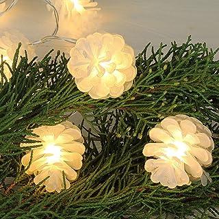 Mobestech 6pcs a forma di pigna a lume di candela a forma di pigna in vera cera di cera a forma di pigna per la decorazione del festival