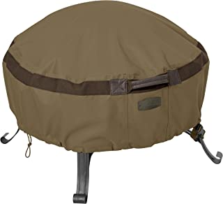 Classic Accessories Hickory Full Coverage Round Fire Pit Cover, Small