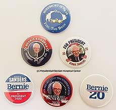 Bernie Sanders For President 2020 Campaign Buttons (Set of 6) SANDER2020-6PK
