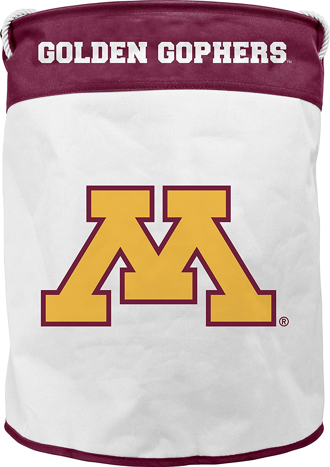NCAA Minnesota golden Gophers Canvas Laundry Basket with Braided Rope Handles
