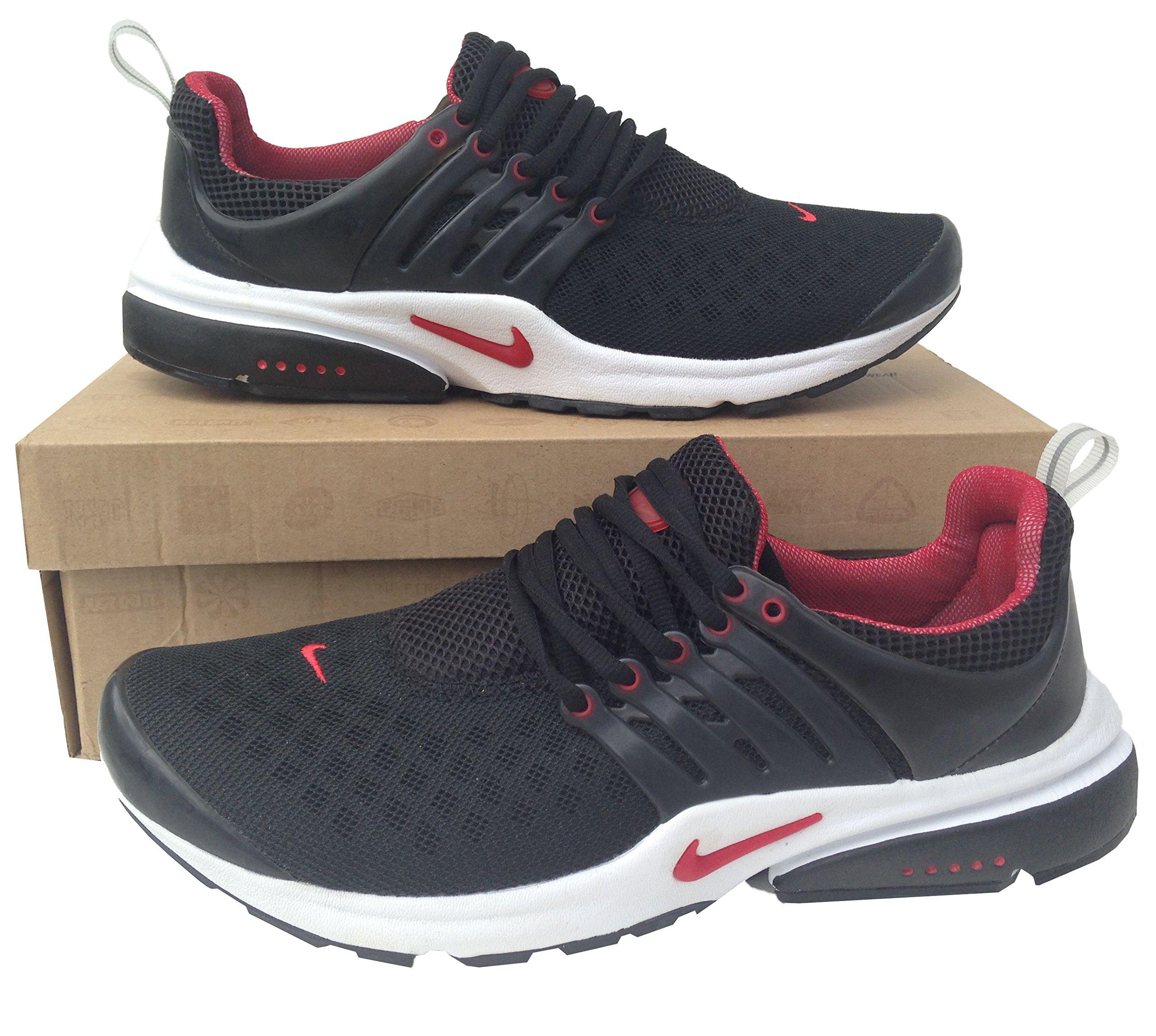 Nike Air Presto Rojo Negro Mens tamaño 8,5 Zapatillas Shox Zapatillas de Running Zapatillas: Amazon.es: Deportes y aire libre