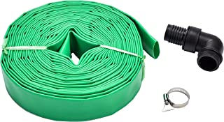 Fluent Power PVC Lay Flat Discharge Hose Kit 1-1/2