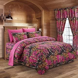 hot pink camo bed set