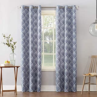 Sun Zero Cooper Geometric Print Thermal Insulated Room Darkening Grommet Curtain Panel 40