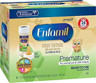 Enfamil Ready to Feed Premature Baby Formula Milk, 2 Fluid Ounce (48 count), High Protein 24 Calorie