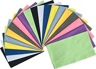 ColorYourLife 20-Pack Microfiber Cleaning Cloths for Smart Phones, Laptops, Tablets, Lenses, LCD Monitor, TV, Camera, Eyeglasses, Optics Etc
