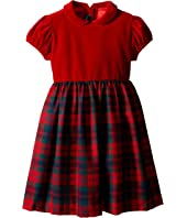Oscar de la Renta Childrenswear - Holiday Plaid Wool Gathered Dress (Toddler/Little Kids/Big Kids)