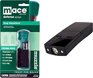 Mace Dog Walker Bundle Muzzle Pepper Spray and Electronic Dog Repeller - Lot of 2