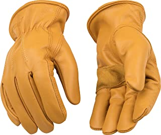 (XX-Large) - Kinco 198HK-XXL-1 Full premium grain cowhide, Reinforcing leather palm patch, Easy-On cuff with elastic wrist, Heatkeep thermal lining, Size: XXL