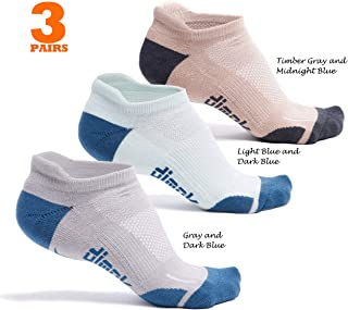 dimok Athletic Running Socks - No Show Wicking Blister Resistant Long Distance Sport Socks for Men and Women