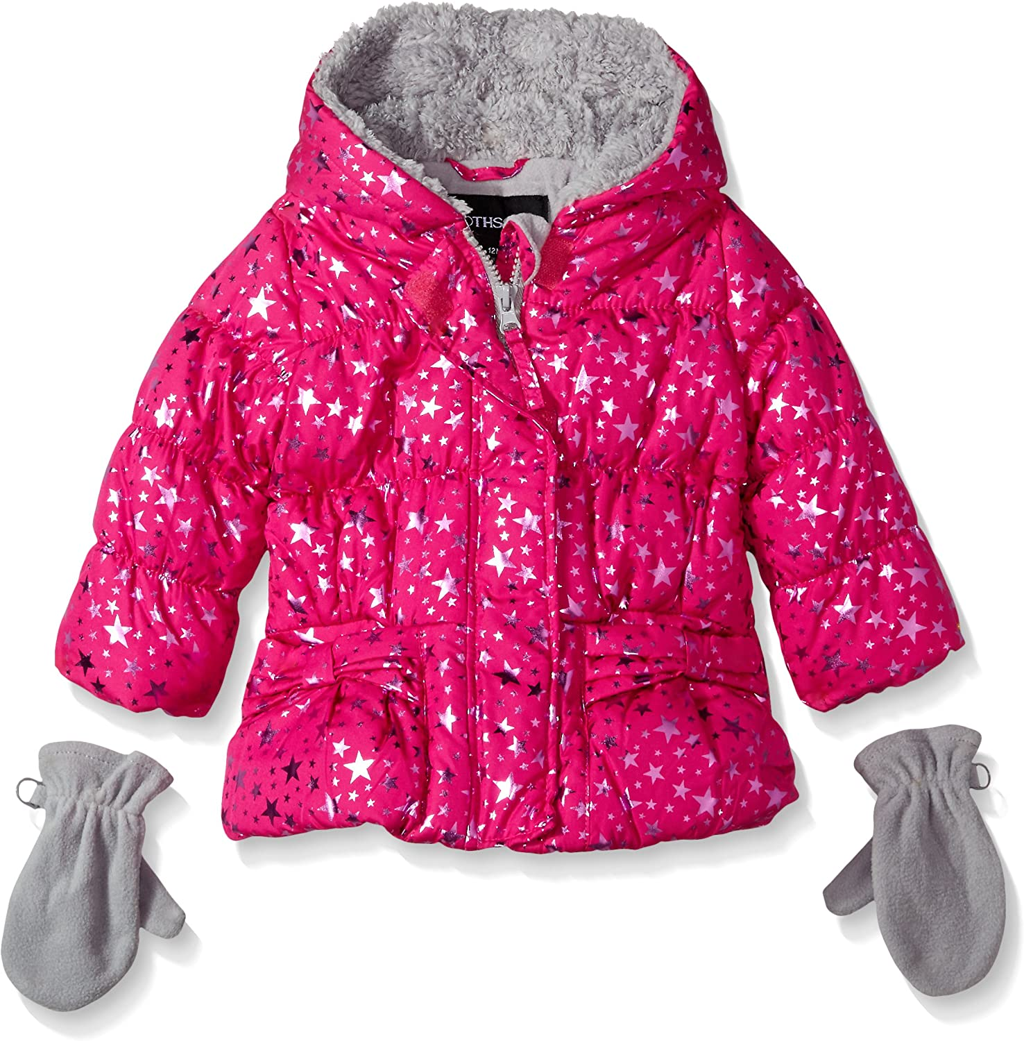 Rothschild Baby-Girls Star Large High material special price Foil Jacket Ruby Light Months 12