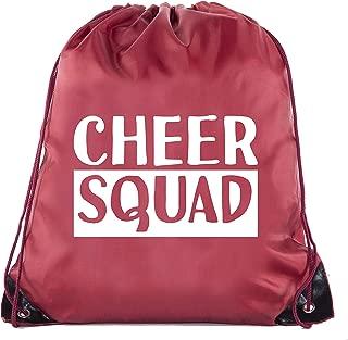 Cheer Bags, Pom Pom and Cheerleader drawstring Backpacks, Cheerleader Team bags