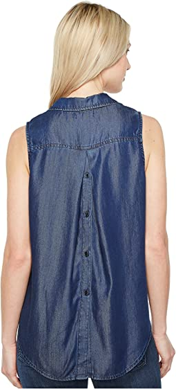 Indigo Tencel Sleeveless Top