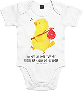 Mr. & Mrs. Panda Strampler, Babysuit, Baby Body Küken Wanderer mit Spruch - Farbe Transparent
