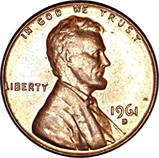 1961 D Lincoln Memorial Cent 1C About Uncirculated