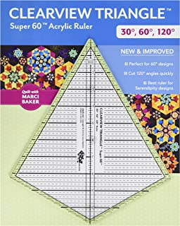 C&T PUBLISHING Notions Ruler Clearview Triangle 30, 60, 120 Degree