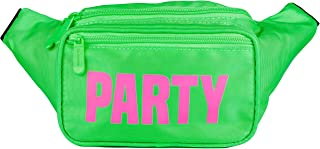 SoJourner Bum Bag Fanny Pack Neon Party - Green | for women, men and kids | cute fits small medium large