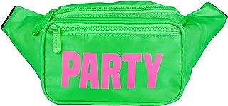 SoJourner Green Party Fanny Pack - Neon Packs for men, women | Cute Waist Bag Fashion Belt Bags rave festival