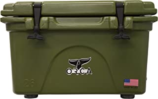 ORCA ORCG026 Cooler with Extendable flex-grip handles for comfortable solo or tandem portage, 26 quart, Green