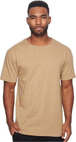 Deven Premium Knit Short Sleeve Tee w/ Contrast Poplin Back