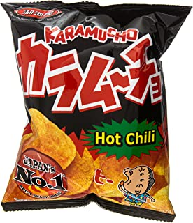 Koikeya Karamucho Potato Chips, Hot Chili, 2 Ounce (Pack of 12)