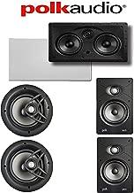 Polk Audio V80 5.0 Vanishing Series High Performance in-Wall/in-Ceiling Home Speaker System (V80 + V65 + 255C-RT)