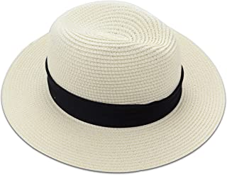 d9ffe1778d583 Medium Floppy Wide Brim Women s Summer Sun Beach Straw Hat Black Striped  Band