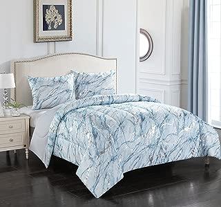 Best blue silver comforter set Reviews