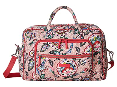 Vera Bradley Iconic Compact Weekender Travel Bag (Stitched Flowers) Weekender/Overnight Luggage