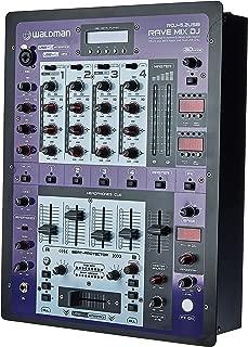 DJ Mixer Profissional de 5 Canais + 2 USB Rave Mix DJ, Waldman, RDJ-5.2USB