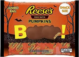 REESE'S Peanut Butter Halloween Pumpkin, Milk Chocolate Covered Peanut Butter Pumpkin Shaped Candy in Halloween Packaging, 19.2 Ounce Bag