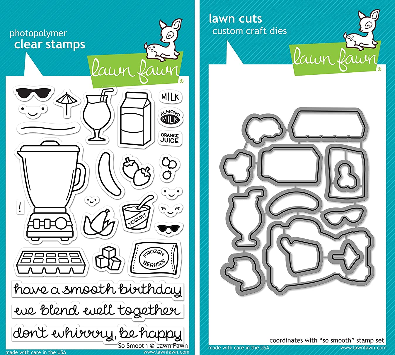 Lawn Fawn So Smooth Stamp and Die Set - Two item Bundle v0351154236