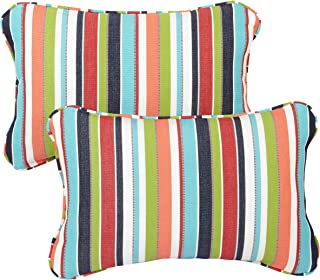 Mozaic Company Sunbrella Indoor/ Outdoor 13 by 20-inch Corded Pillow, Carousel Confetti, Set of 2