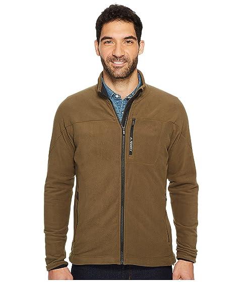 42fa1ddc50e6 Adidas Originals Terrex Tivid Fleece Jacket In Trace Olive