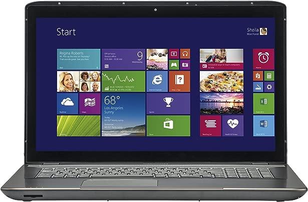Medion MD 98468 43 9 cm  17 3 Zoll  Laptop  Intel Core i3-3120M  4GB RAM  1TB HDD  Win 8  Touchscreen  schwarz