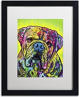 Hey Bulldog by Dean Russo, White Matte, Black Frame 16x20-Inch