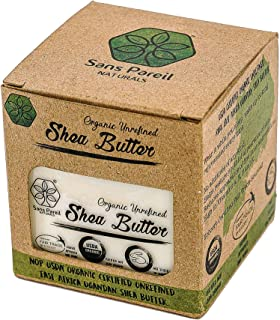 USDA Certified Organic Shea Butter: Highest Quality Unrefined Rare Nilotica, Certified Fair-Trade - Nourishes, Replenishes...