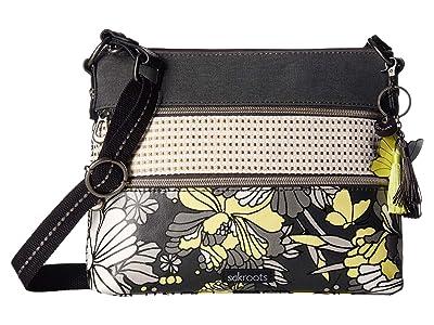 Sakroots Artist Circle Basic Crossbody (Slate Flower Blossoms) Cross Body Handbags