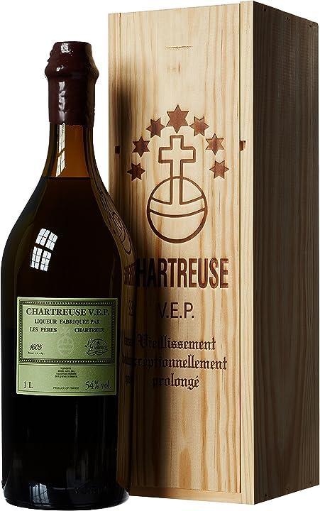 Liquore chartreuse vep. verte liquore - 1000 ml chartreuse diffusion 300711
