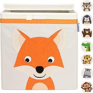 GLÜCKSWOLKE Boîte de Rangement Enfant - 10 Motifs I Coffre à Jouet I Caisse Cube (33x33x33) I Bac à Jouets avec Couvercle ...